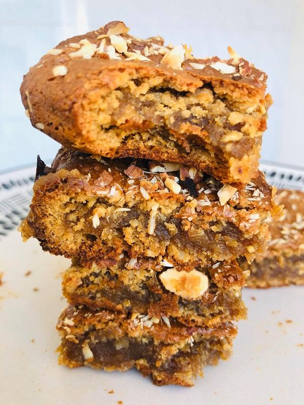 Oil & Gluten-Free Vegan Cookie-Dough Bars