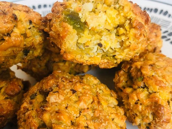Gluten-Free Baked Pistachio Falafel