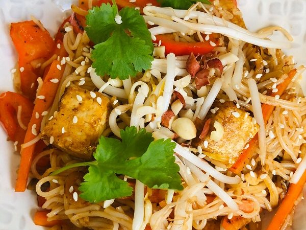 Easy Healthy Vegan Pad Thai