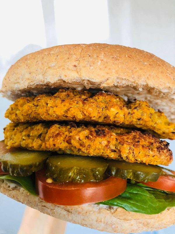 Easy Healthy Vegan Bean & Butternut Burgers