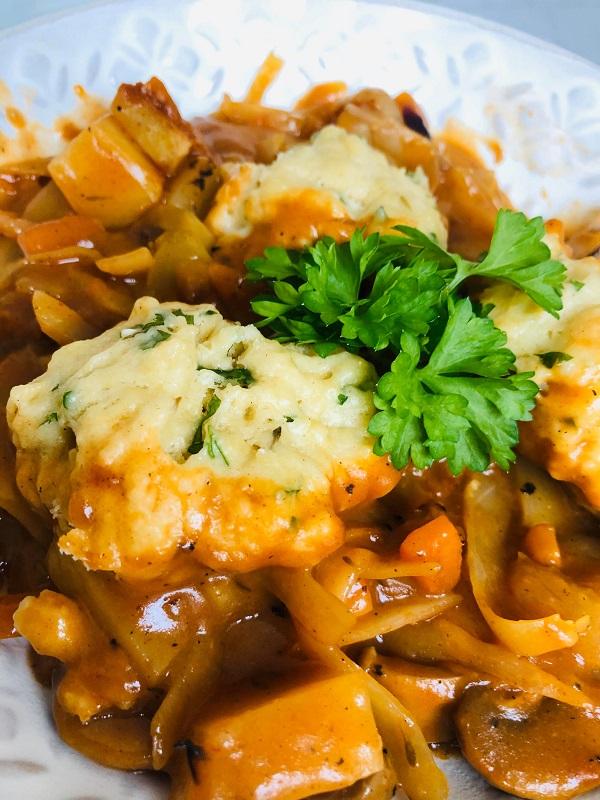 Easy Healthy Vegan Irish Stew With Dumplings