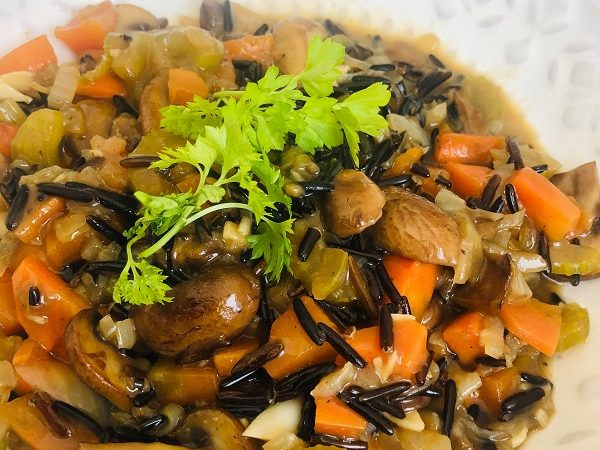 Vegan Creamy Wild Rice & Vegetable Stew