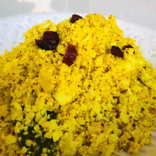 Easy Healthy Curried Cauliflower Rice