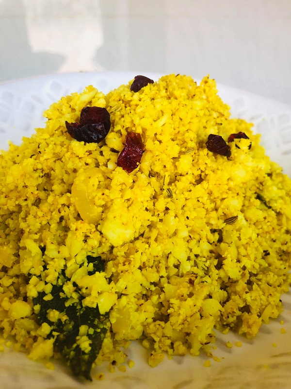Easy Healthy Curried Cauliflower Rice