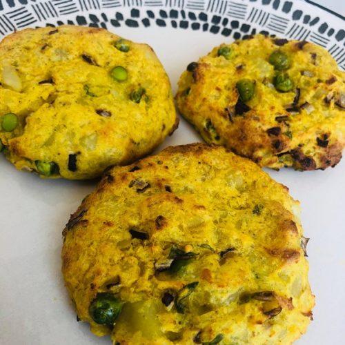 Oil & Gluten-Free Indian Spiced Potato Cakes