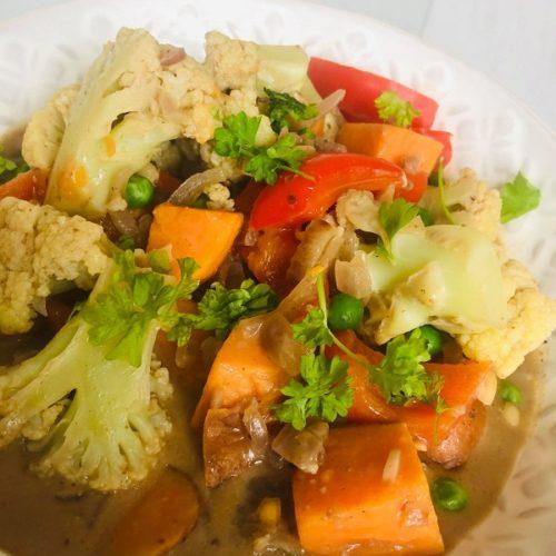 30-Minute Curried Vegan Peanut Vegetable Stew
