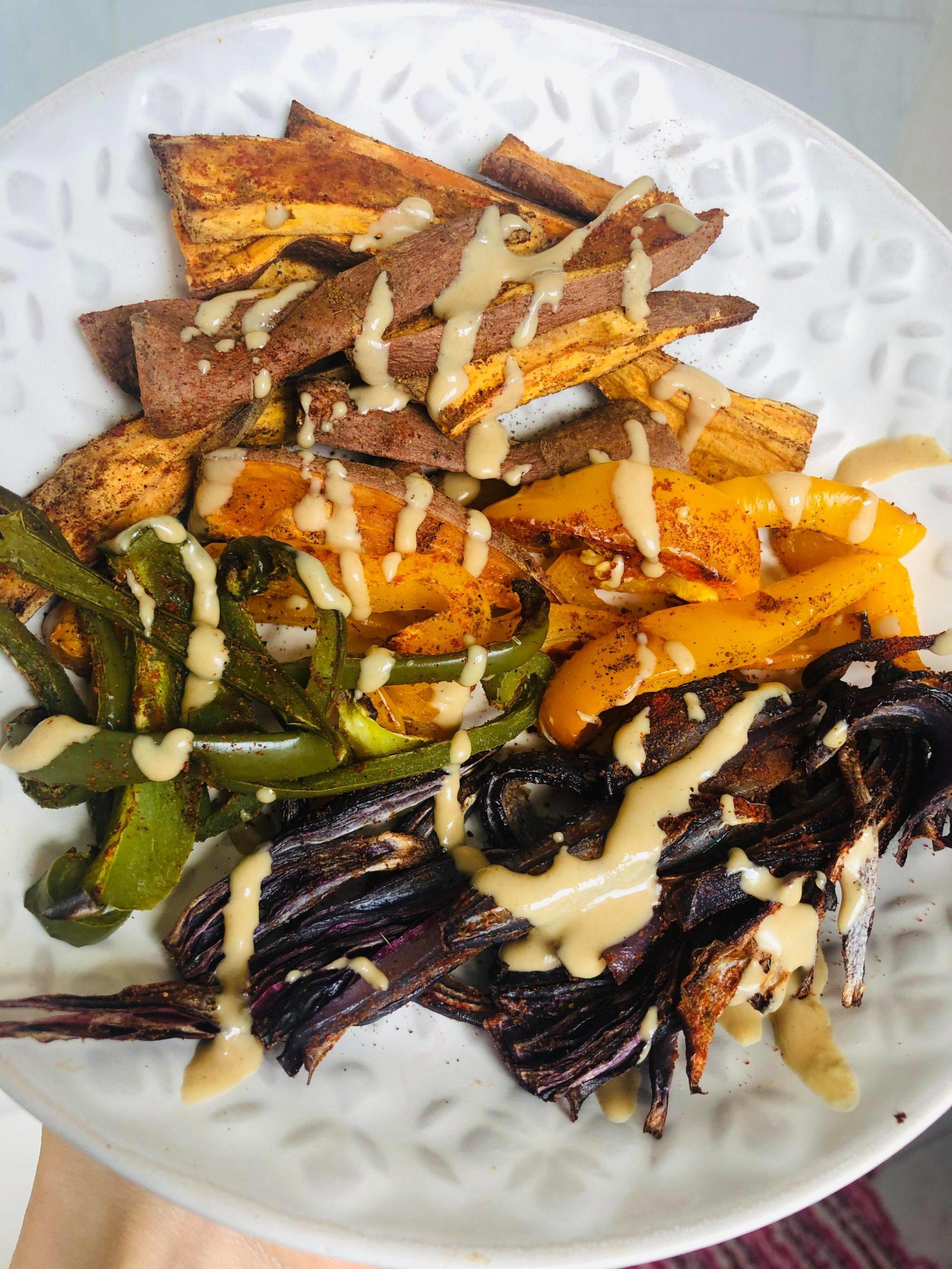 Easy Healthy Oil-Free Fajita Vegetable Filling