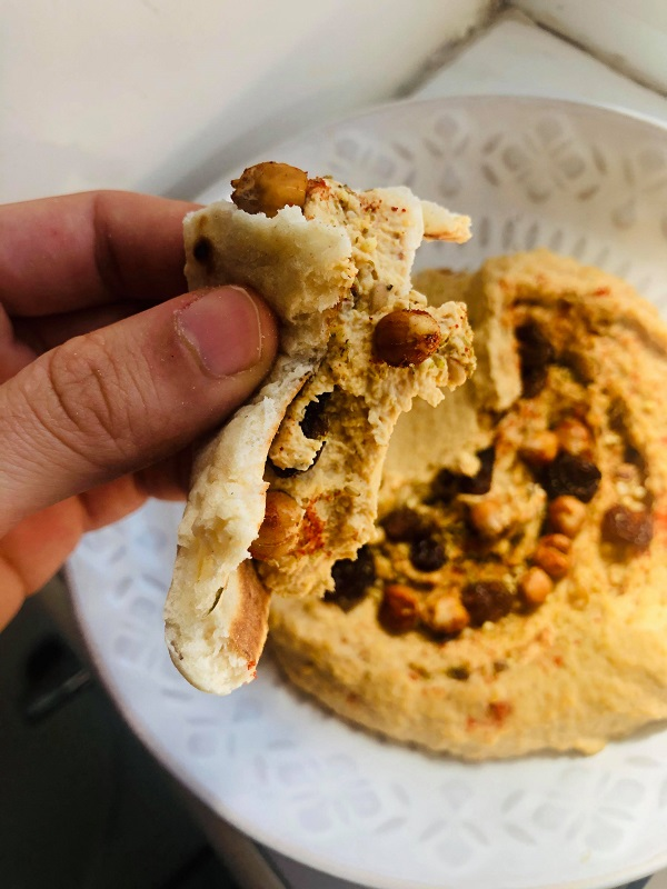 Easy Oil-Free Moroccan Spiced Hummus