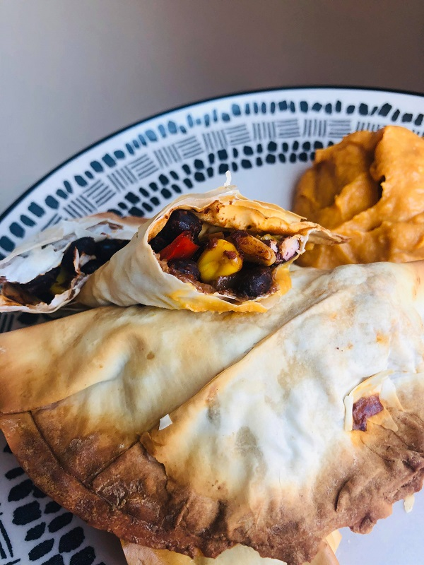 Healthy Crispy Vegan Spiced Bean Empanadas