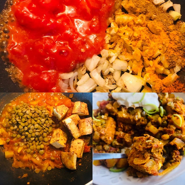 Healthy Vegan Butter Tofu Curry With Lentils