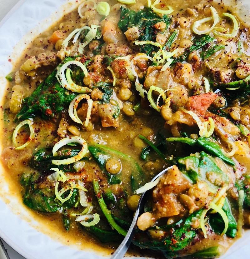 Easy Vegan Thick Lentil Soup