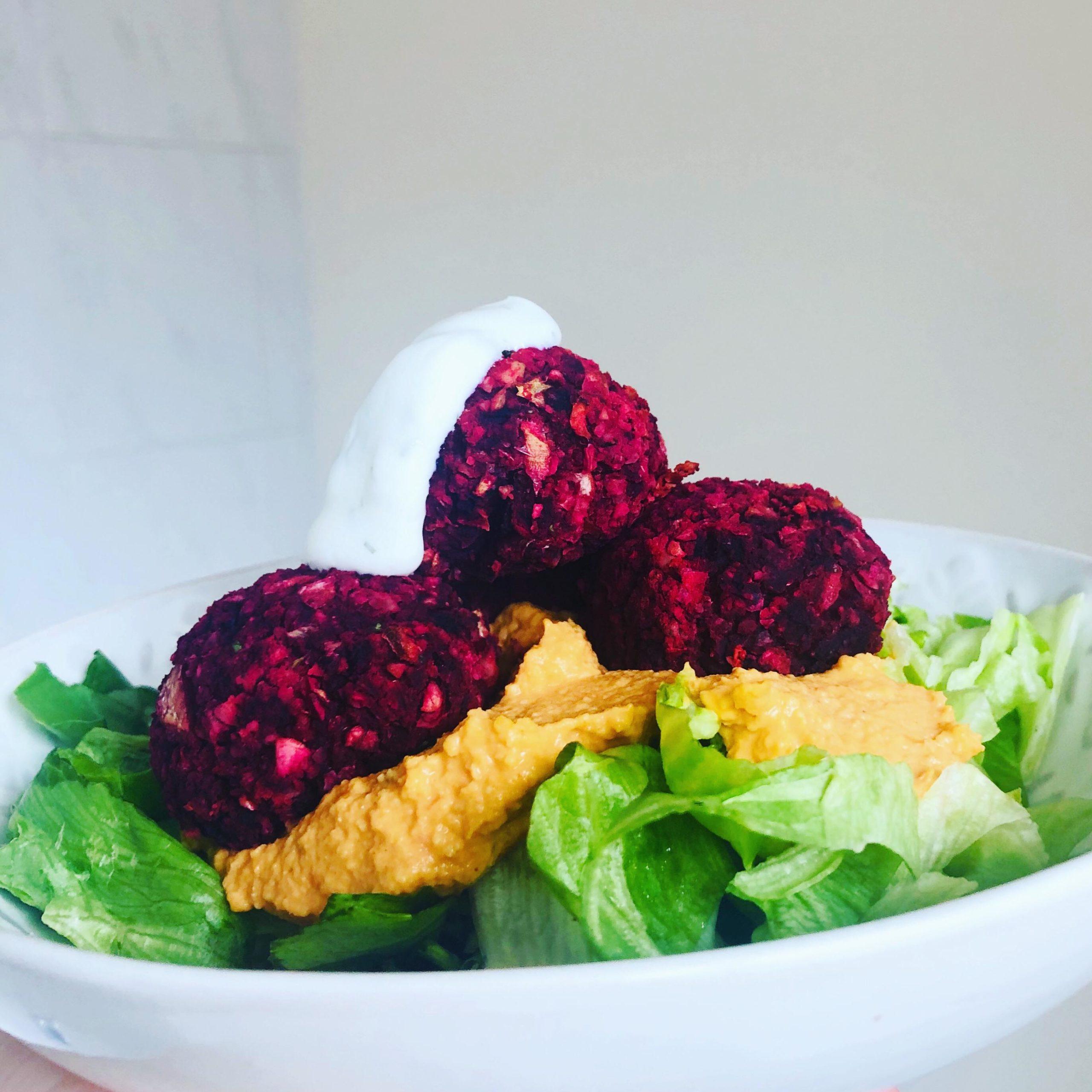 Easy Healthy Vegan Oil-Free Beetroot Falafel