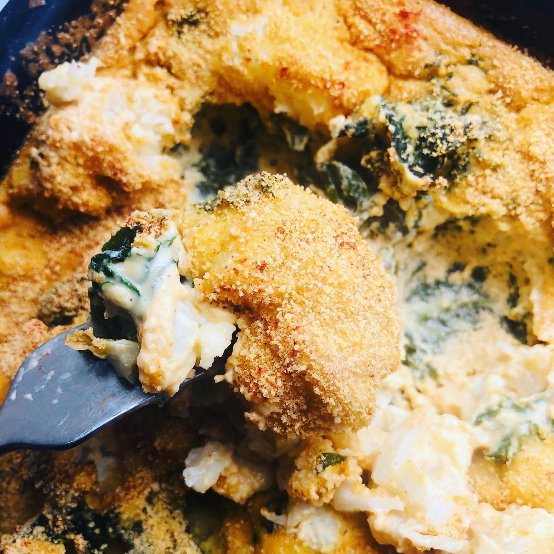 Easy & Delicious Vegan Cauliflower Cheese Bake