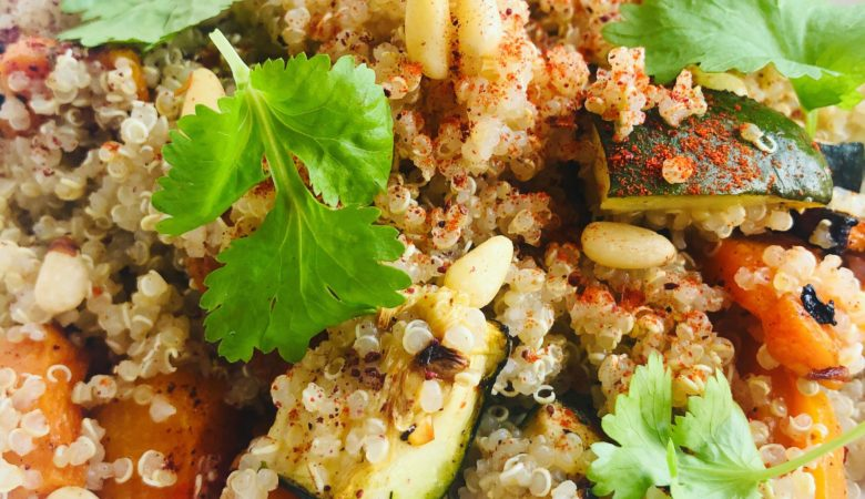 Easy Oil-Free Healthy Squash & Quinoa Salad