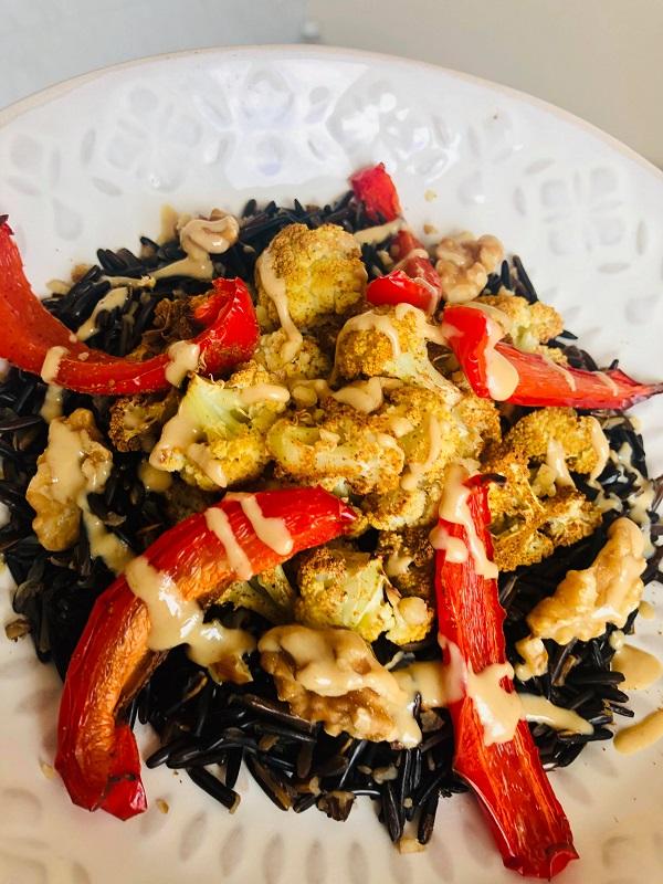 Wild Rice Salad With Walnuts & Cauliflower