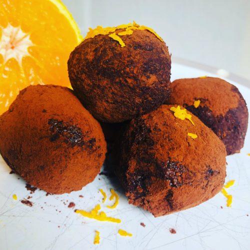 Easy Raw Vegan Chocolate Orange Truffles