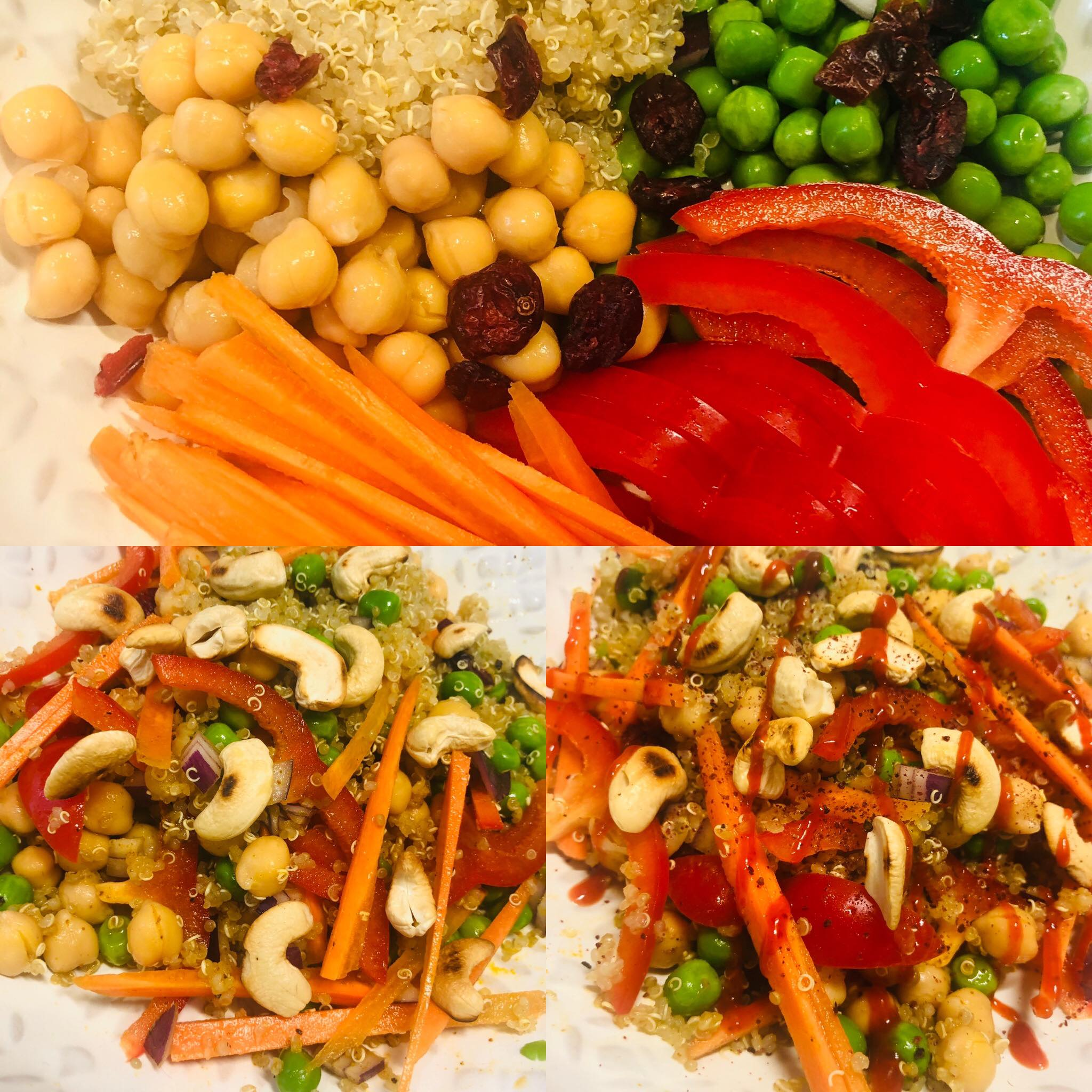 Easy Healthy Curried Quinoa Cashew Salad