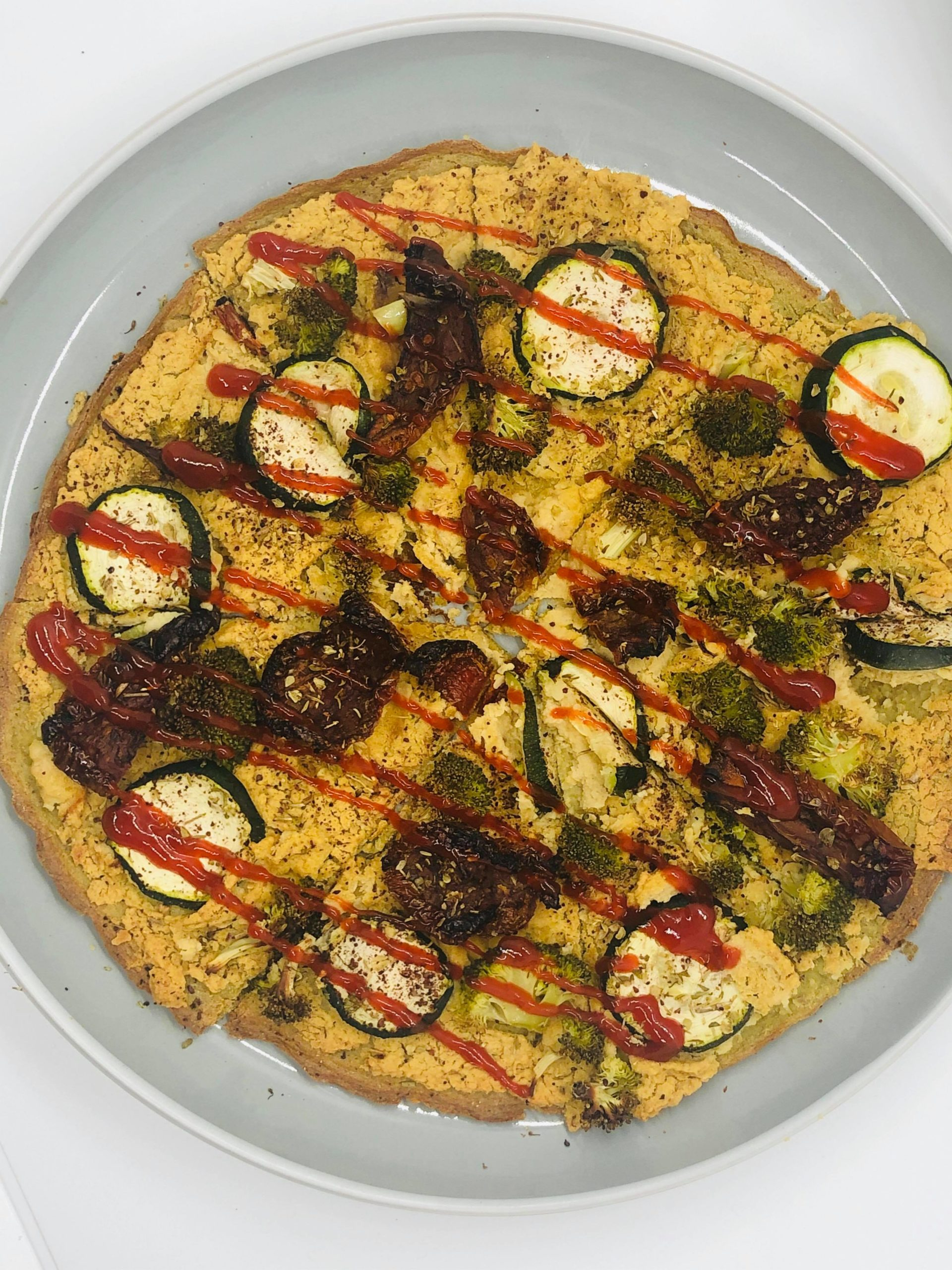 Super Easy Healthy Gluten-Free Vegan Broccoli Pizza