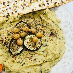 Easy No-Added Oil Creamy Zucchini Hummus