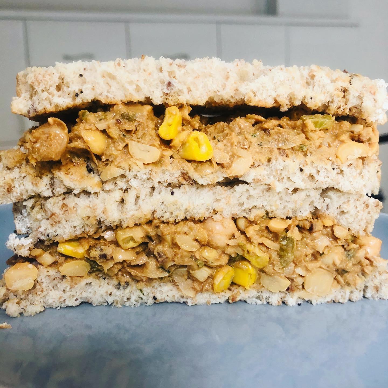 Easy Vegan Sweetcorn Tuna Sandwich