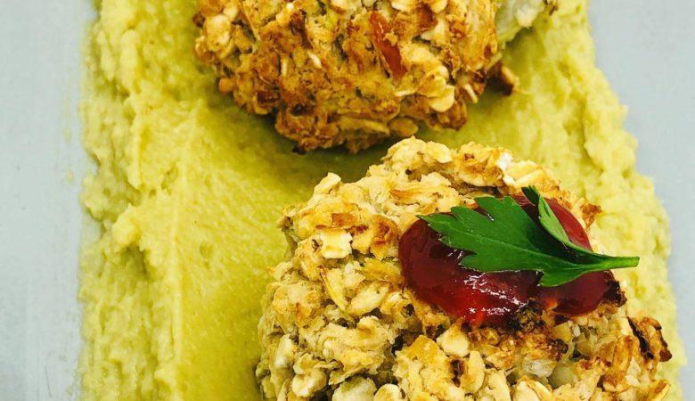 Easy WFPB Bean Koftas & Hummus Appetizer (Oil + Gluten-Free)