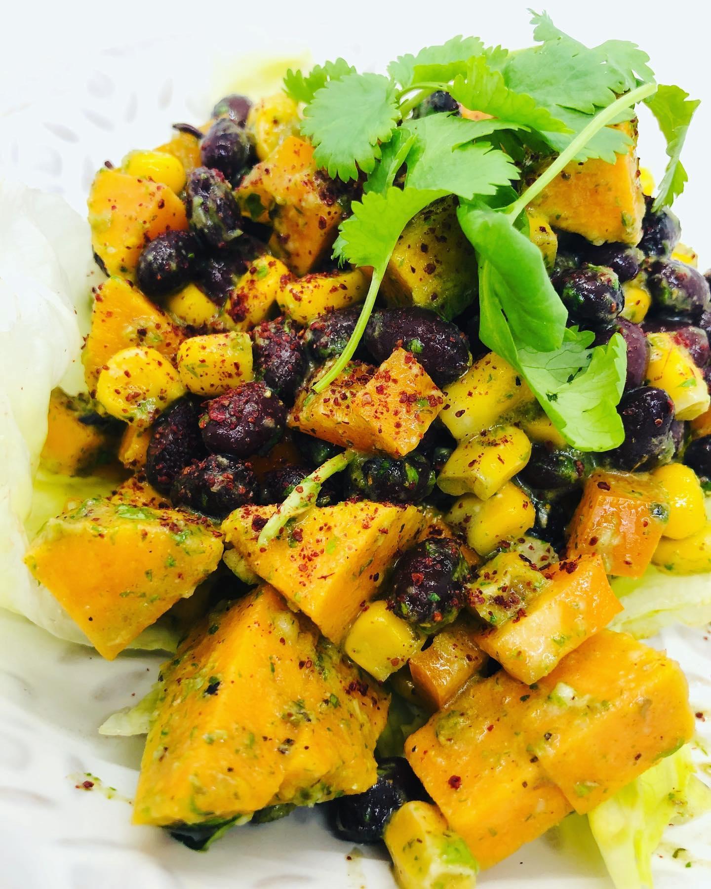 Easy Fresh Black Bean Salad With Chimichurri