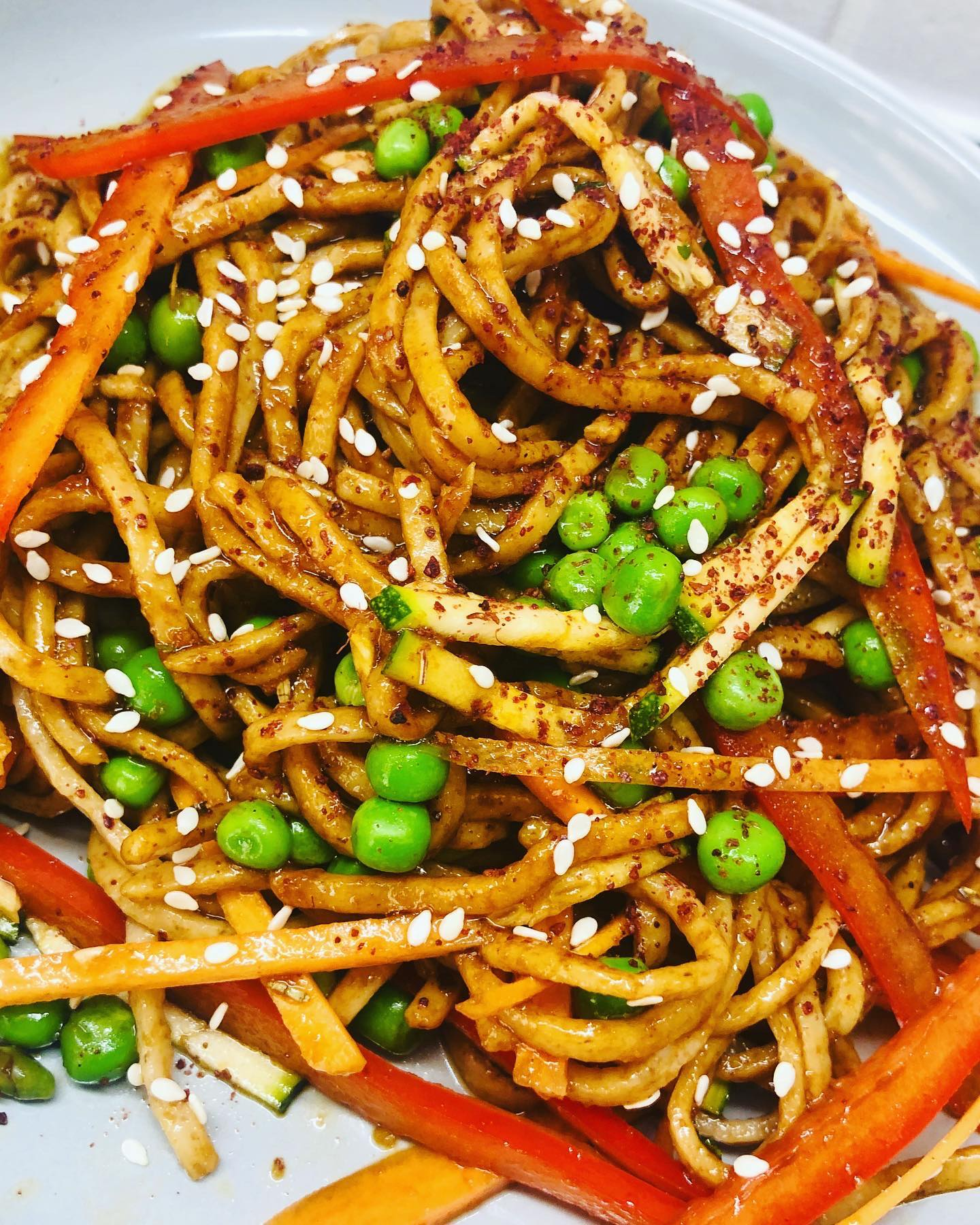 Easy Asian Spiced Noodles & Veg Salad