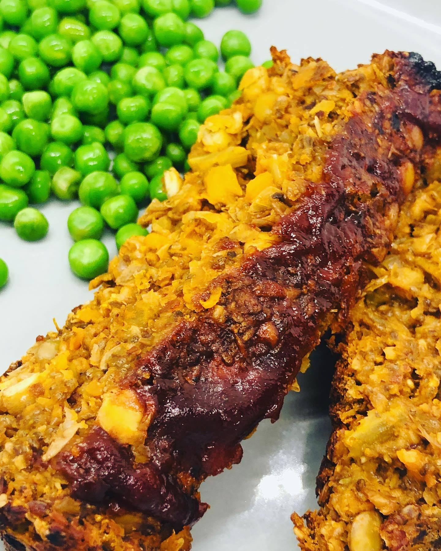 WFPB Easy Lentil 'Meatloaf'