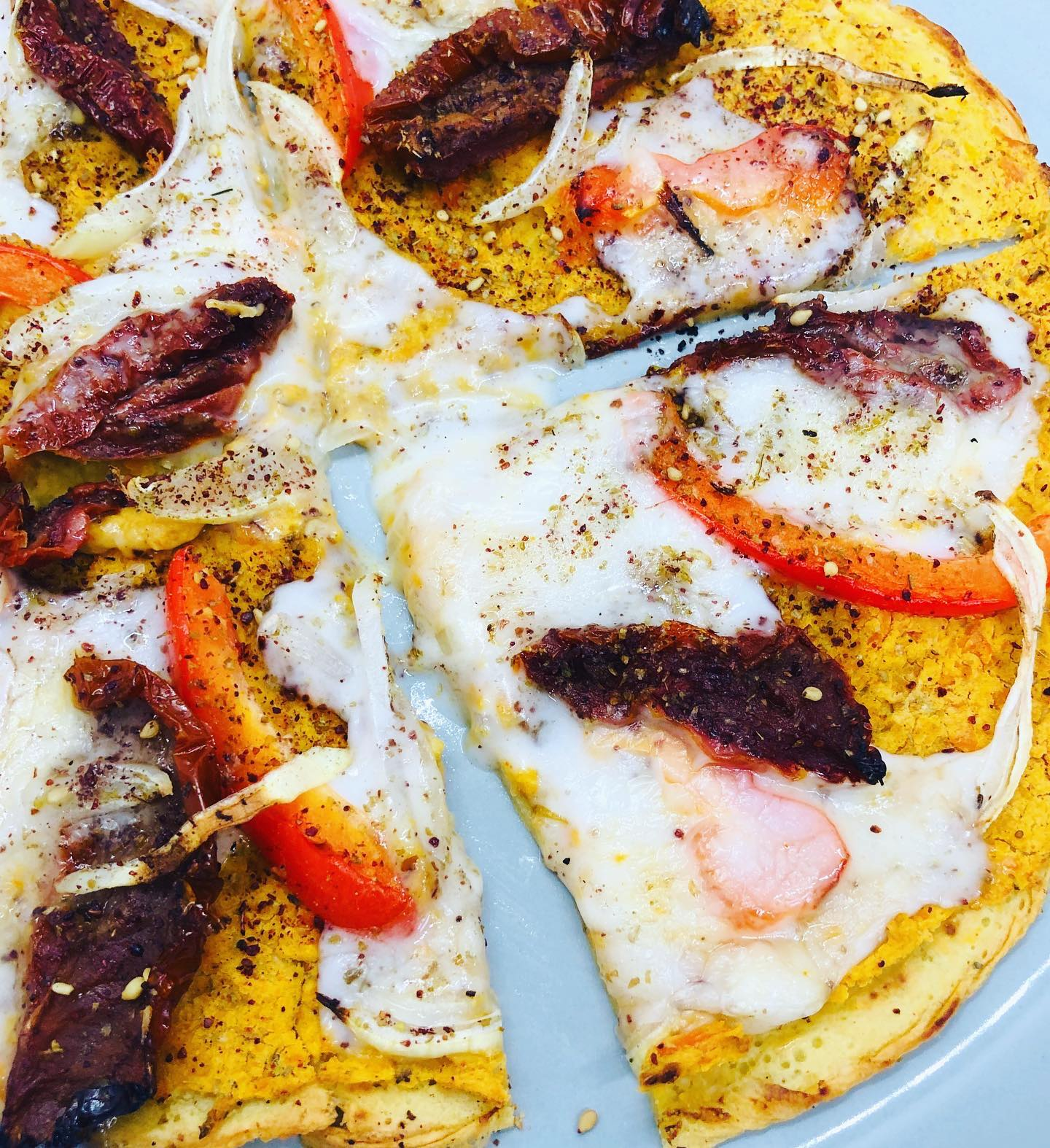 Quick & Easy Gluten-Free Vegan Feta Cheese Pizza
