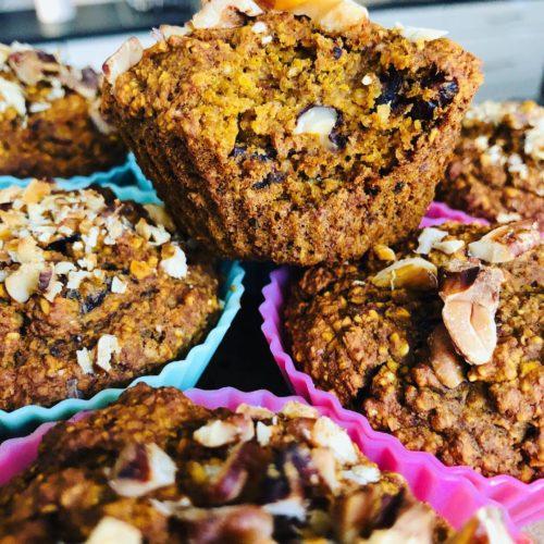 Easy Gluten-Free Healthy Vegan Pumpkin-Spiced Muffins