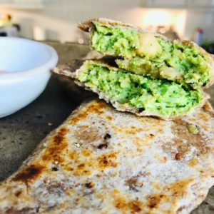 Vegan Broccoli Chickpea Stuffed Flatbreads