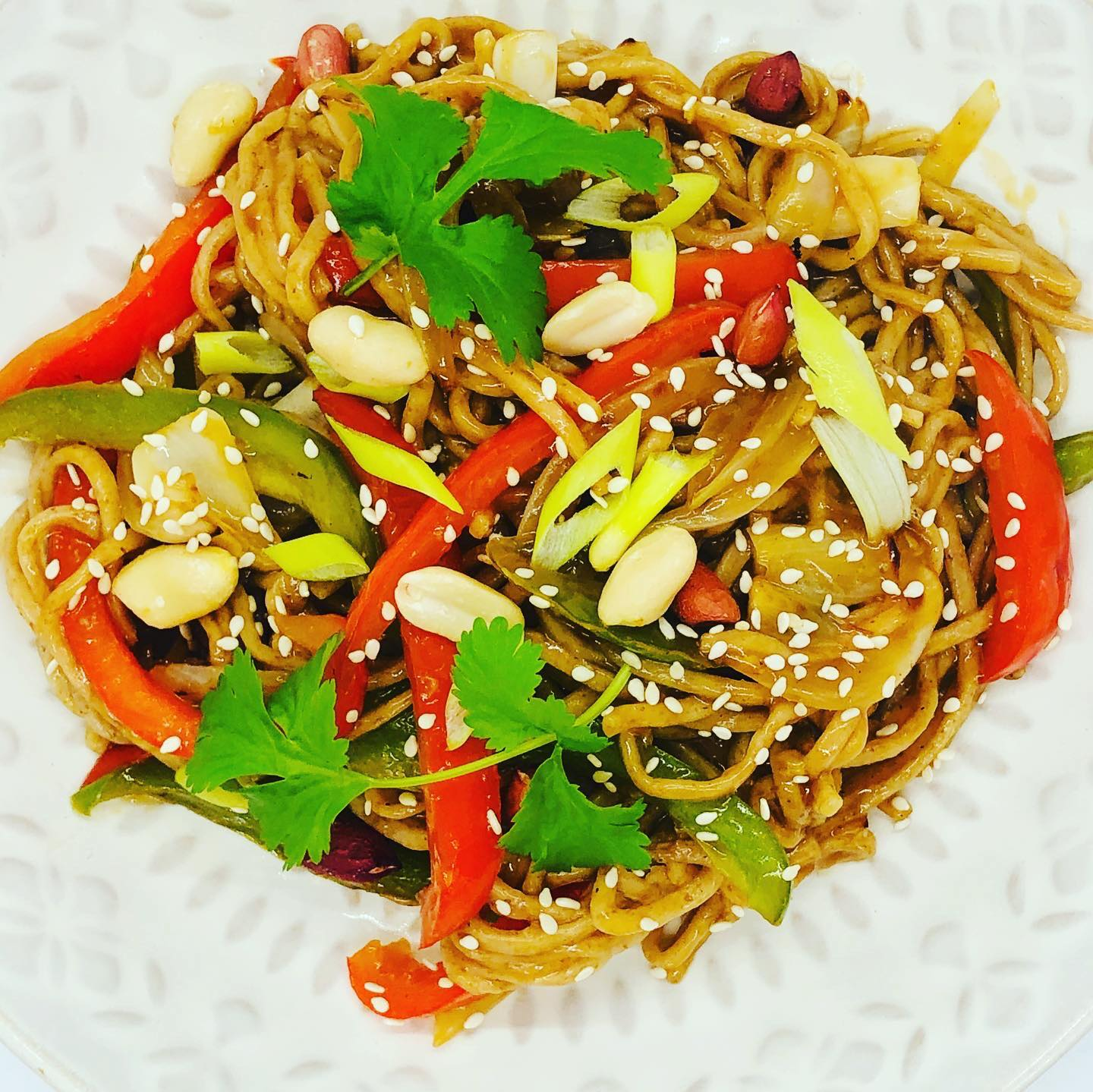 Easy Sweet & Sour Vegan Kung Pao Noodles