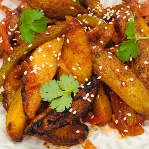 Vegan Chinese Sweet Chili Crispy Fries
