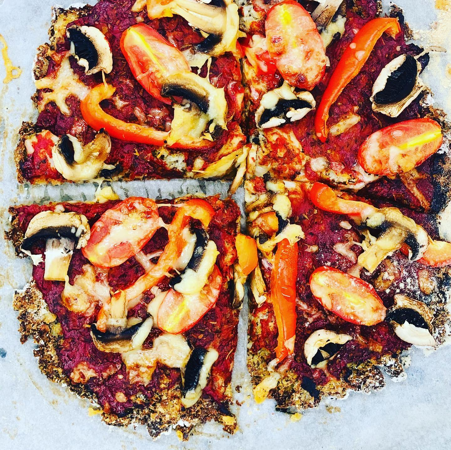 Gluten-Free Vegan Cauliflower Crusted Pizza