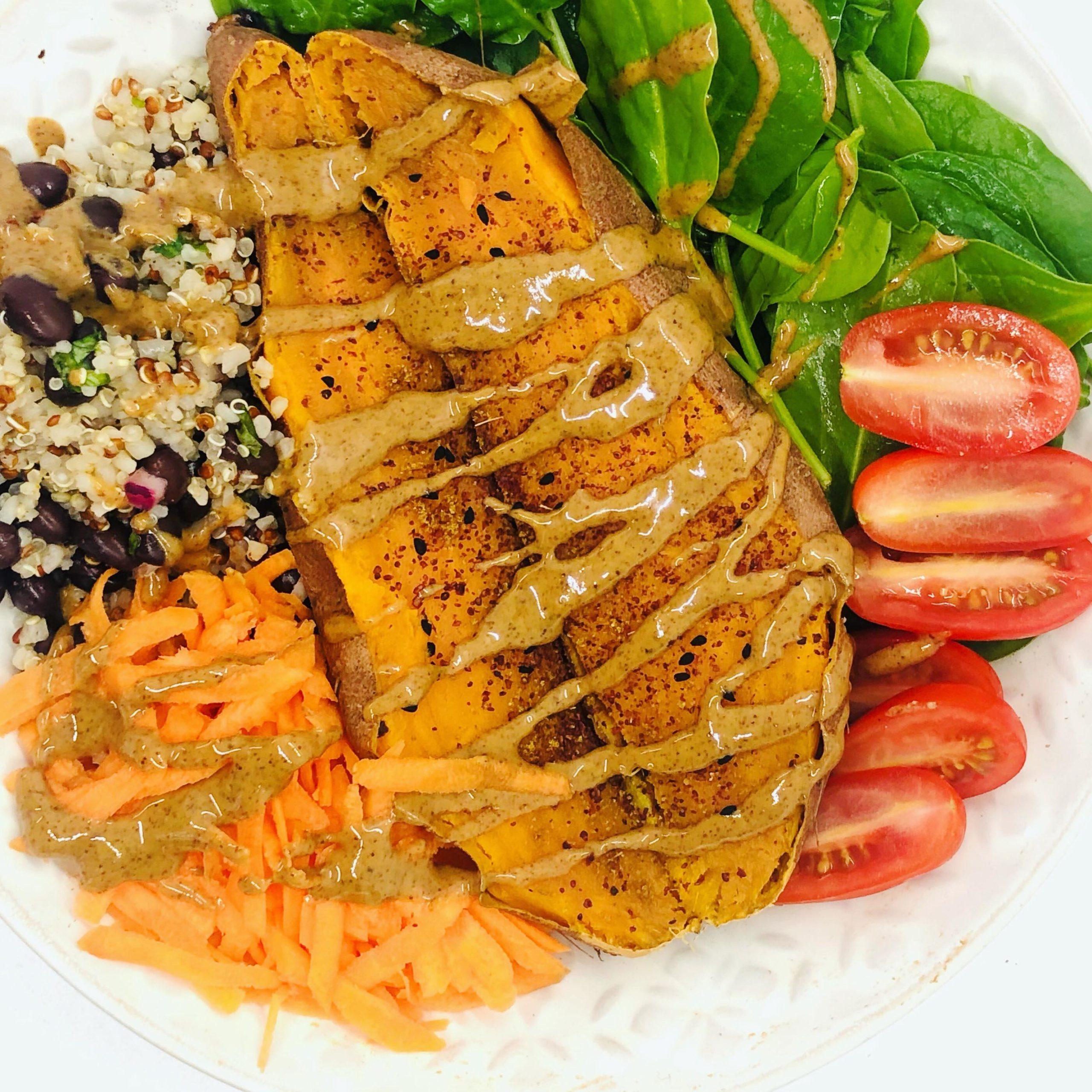 Easy Healthy Sweet Potato & Almond Goodness Bowl
