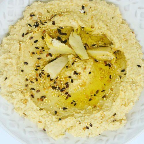 Quick Healthy Artichoke Hummus