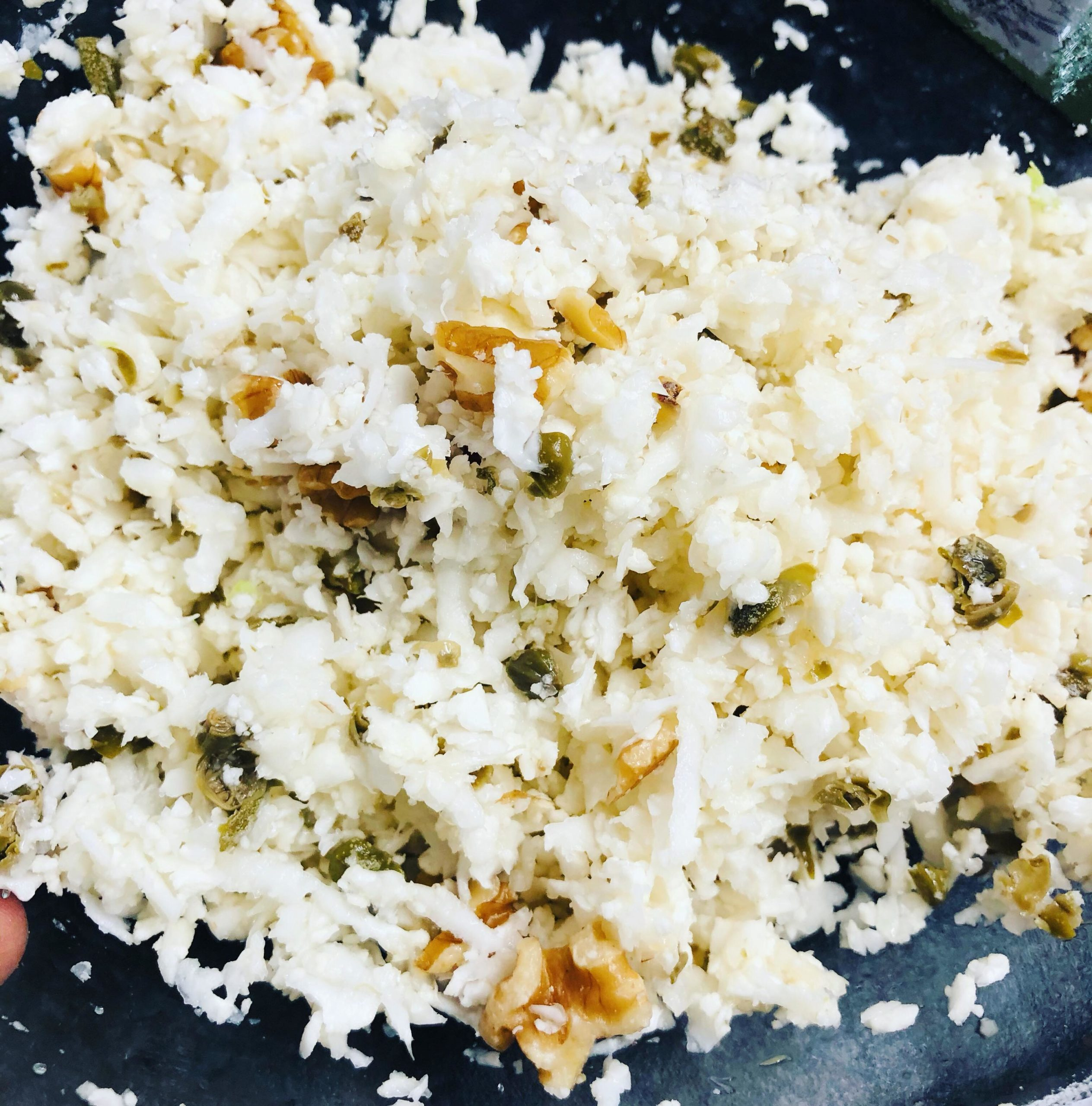 Raw Vegan Cauliflower & Walnut Rice