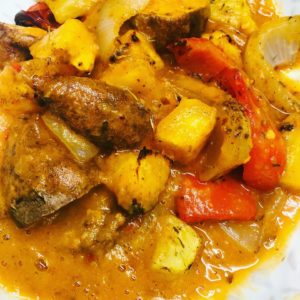 WFPB Potato Pepper & Pineapple Stew