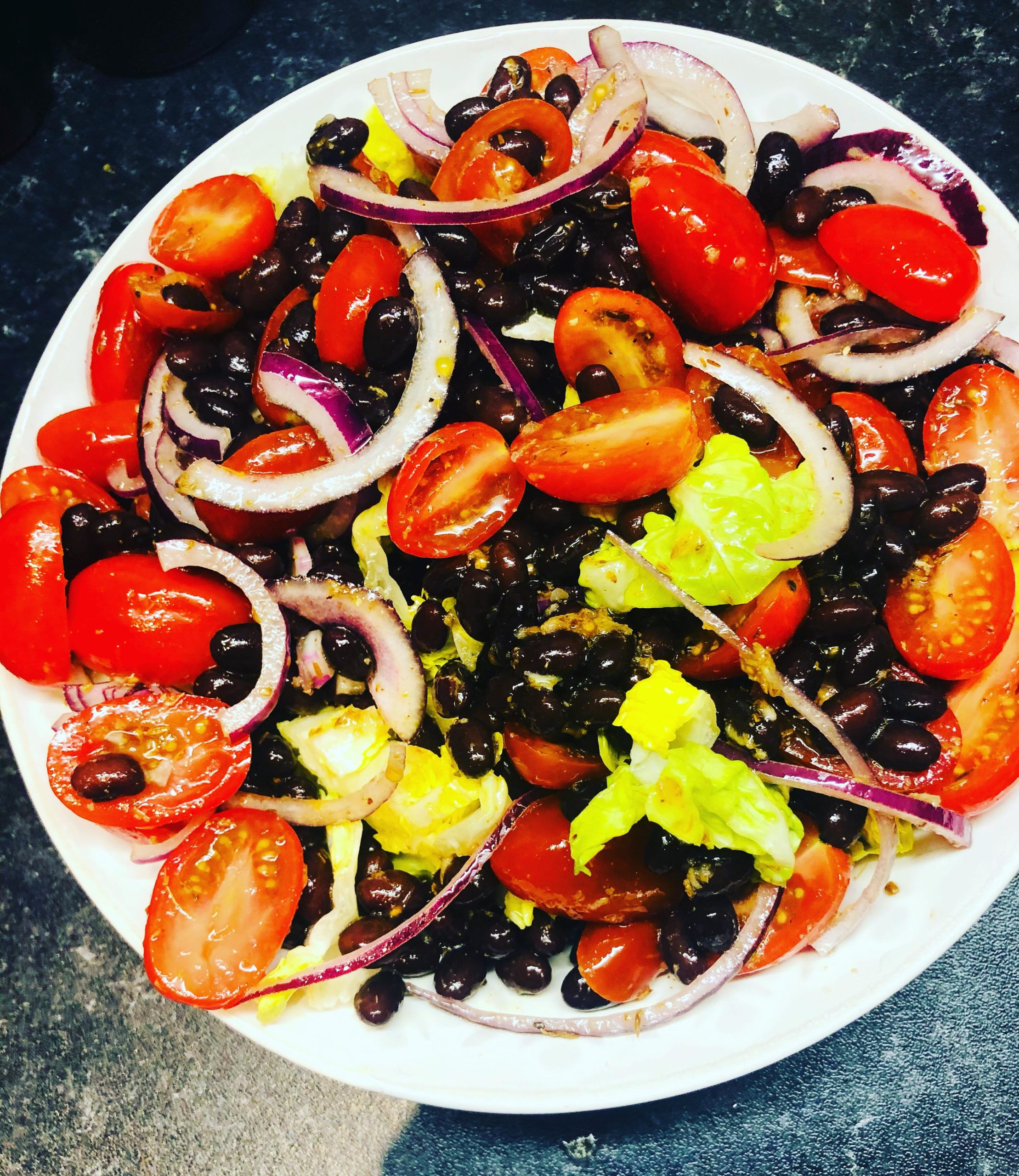 Tomato Black Bean Salad With Cumin Dressing