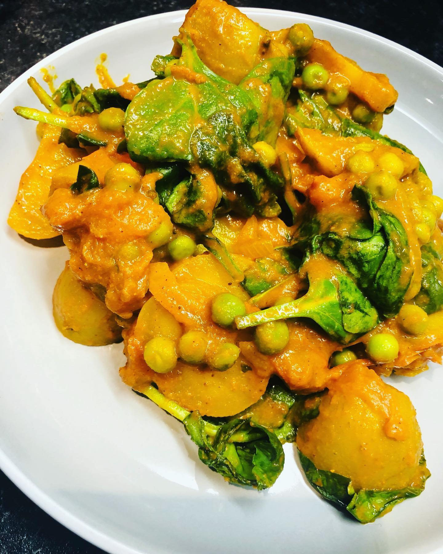 Oil-Free Vegan Pea & Potato Curry