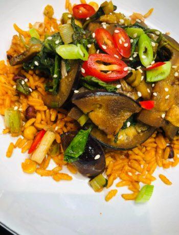 20-Minute Eggplant Pak Choi Stir-Fry