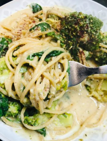 10-Min Healthy Cheesy Nut-Free Vegan Pasta