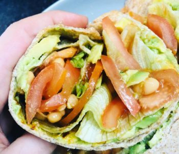 5-Minute Avocado Bean Wrap