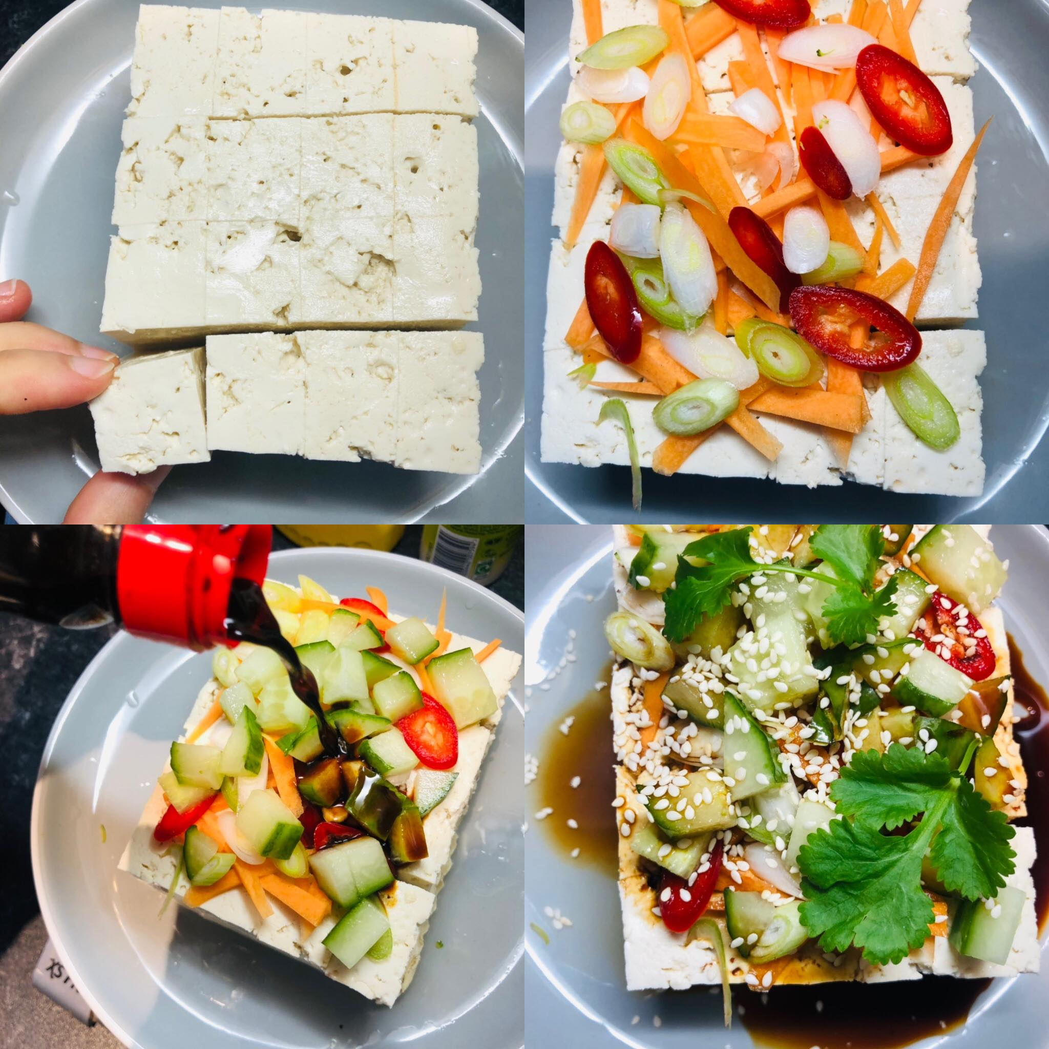 10-Minute Asian Style Tofu Recipe Appetizer