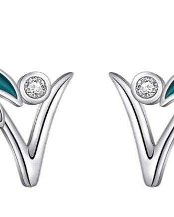 Sterling Silver Vegan Earrings
