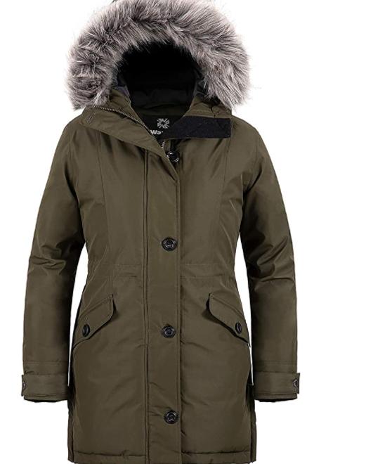 Women's Winter Vegan Fur Hooded Coat