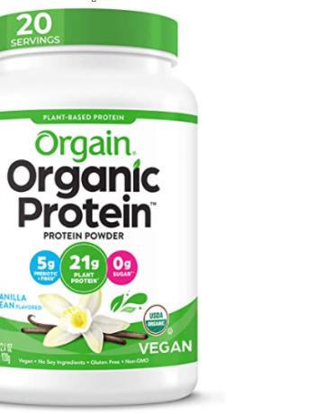 Orgain Organic Non-GMO Vegan Protein Powder