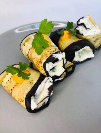 Vegan Eggplant Cream Cheese Stuffed Rolls