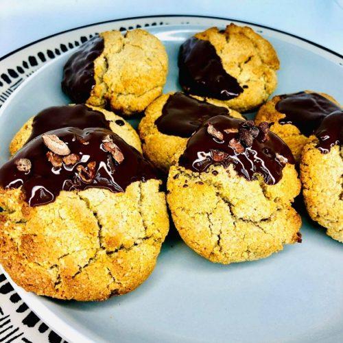 Vegan Maple Chocolate Cookies (GF, Oil-Free)