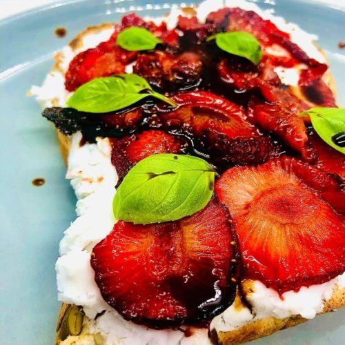 Vegan Whipped 'Feta' & Balsamic Vinegar Strawberries
